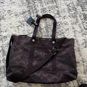 Coach Black Weekender bag